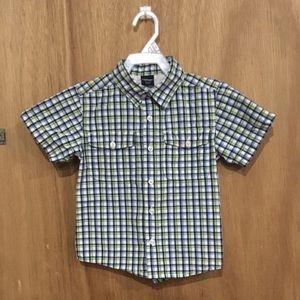 Oshkosh Plaid Button up shirt Size 4/4T